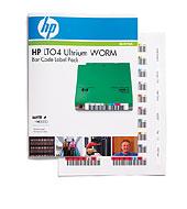 HP Q2010A LTO4 Ultrium egyszer írható (WORM) mágnesszalaghoz vonalkód címke csomag