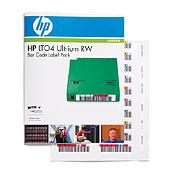 HP Q2009A LTO4 Ultrium újraírható mágnesszalaghoz vonalkód címke csomag