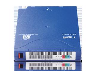 HPE LTO-1 Ultrium 200 GB Data Cartridge Center facing
