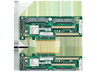 Controlador modular HPE Smart Array P204i-b SR Gen10 (4 lanes internas/1 GB de caché) 12 G SAS Center facing