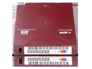 Cartucho de datos RW HPE LTO-2 Ultrium de 400 GB Center facing