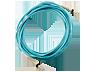 HP AJ834A LC-LC Multi-mode OM3 2 szálas, 1 m-es, 1 csomagos üvegszálas kábel