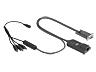 HP 373035-B21 CAT5 billentyűzet, videó- és egér soros illesztő adapter