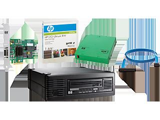 HPE StoreEver LTO-4 Ultrium 1760, internes SAS-Laufwerk mit 4 Kassetten, Paket/TVlite Center facing