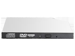 HPE 9.5mm SATA DVD-ROM JackBlack Optical Drive Center facing