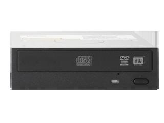 HPE halbhohes optisches SATA DVD-RW JackBlack-Laufwerk Center facing