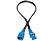 HP 142257-002 10 A-es, 2,4 m-es IEC320 C14-C13 hálózati elosztókábel