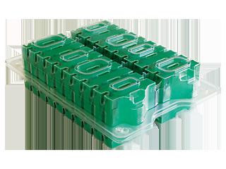 HPE LTO-4 Ultrium 1,6TB mit benutzerdefiniertem Etikett, 20er-Packung, ohne Behälter Right facing