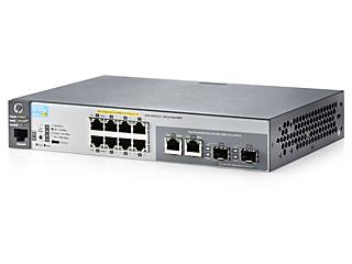 Aruba 2530 8 PoE+-Switch Left facing