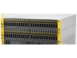 Base de cuatro nodos HPE 3PAR StoreServ 7450 para bastidor de almacenamiento centralizado Left facing