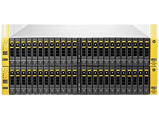 Base de cuatro nodos HPE 3PAR StoreServ 7450 para bastidor de almacenamiento centralizado Center facing