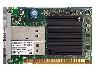 HPE InfiniBand FDR 2-port 545FLR-QSFP Adapter Center facing