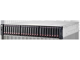 HPE MSA 1040 2-port Fibre Channel Dual Controller SFF Storage Left facing