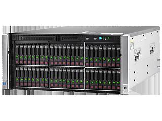 HPE ProLiant ML350 Gen9 E5-2620v4 1P 16GB-R H240ar 8SFF 2x500W PS Server/TV Left facing
