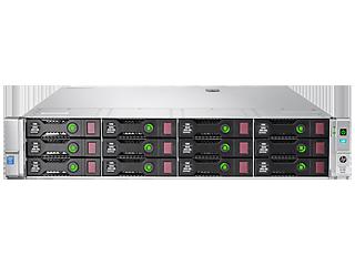 HPE ProLiant DL380 Gen9 E5-2620v3 2.4GHz 6-core 1P 16GB-R P840/4GB 12LFF 2x800W PS Base Server Center facing
