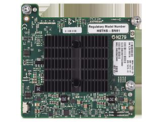 HPE InfiniBand QDR/Ethernet 544+M Adapter (10 Gb, 2 Anschlüsse) Center facing