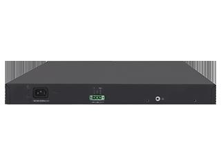 HPE FlexNetwork 5130 48G POE+ 2SFP+ 2XGT EI Switch (370 W) Rear facing