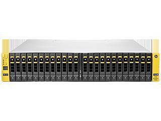 Base de almacenamiento de 2 nodos HPE 3PAR StoreServ 7200c para bastidor de almacenamiento centralizado Center facing