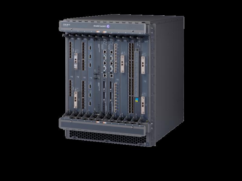 Alcatel-Lucent 7750-SR12 交换机结构和控制处理器模块直流电源机箱启动程序套装 Left facing