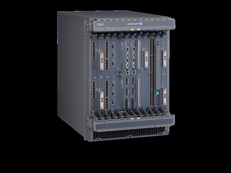 Alcatel-Lucent 7750-SR12 交换机结构和控制处理器模块直流电源机箱启动程序套装 Right facing