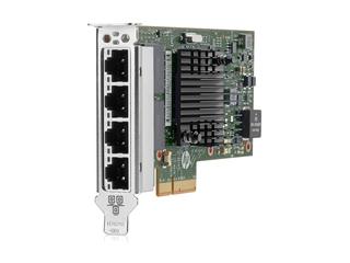 Adaptador HPE Ethernet 366T de 1 Gb y 4 puertos Left facing
