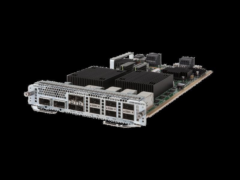 HPE FlexFabric 7900 2-port 100GbE CXP/6-port 40GbE QSFP+/4-port 10GbE SFP+ FX Module Left facing