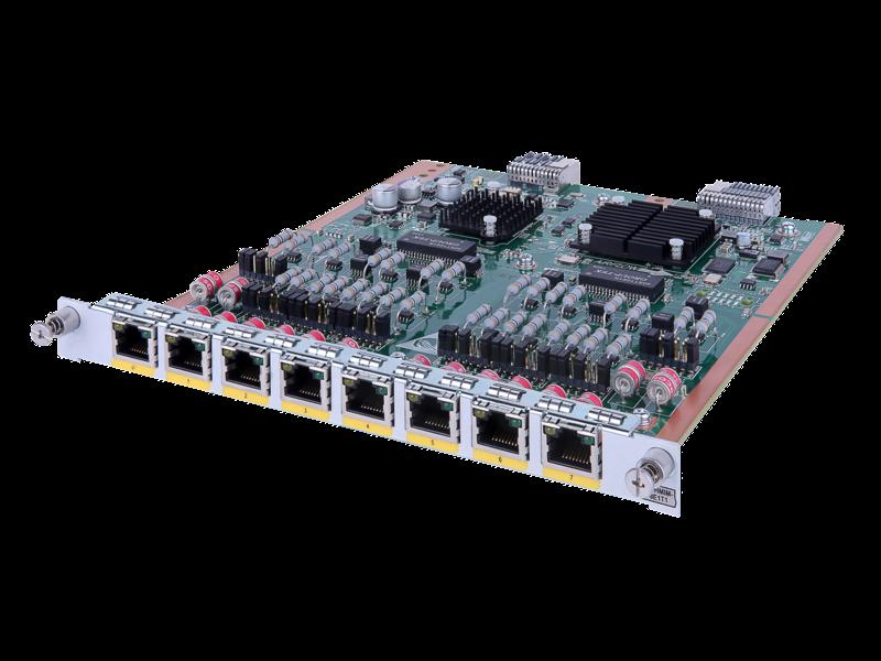 HPE FlexNetwork MSR 8-port E1/CE1/T1/CT1/PRI HMIM Module Left facing