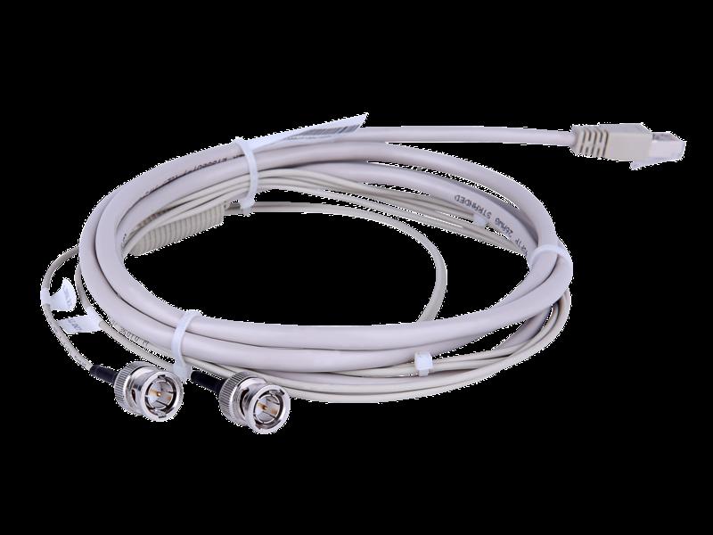 Cable de enrutador HPE FlexNetwork X260 E1 (2) BNC de 75 ohm y de 3 m Left facing