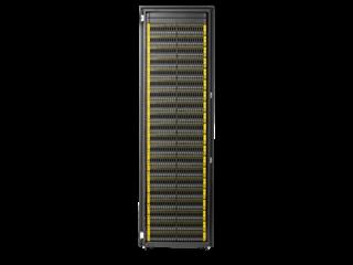 Base de almacenamiento integrada de campo y 4 nodos para HPE 3PAR StoreServ 8400 Center facing