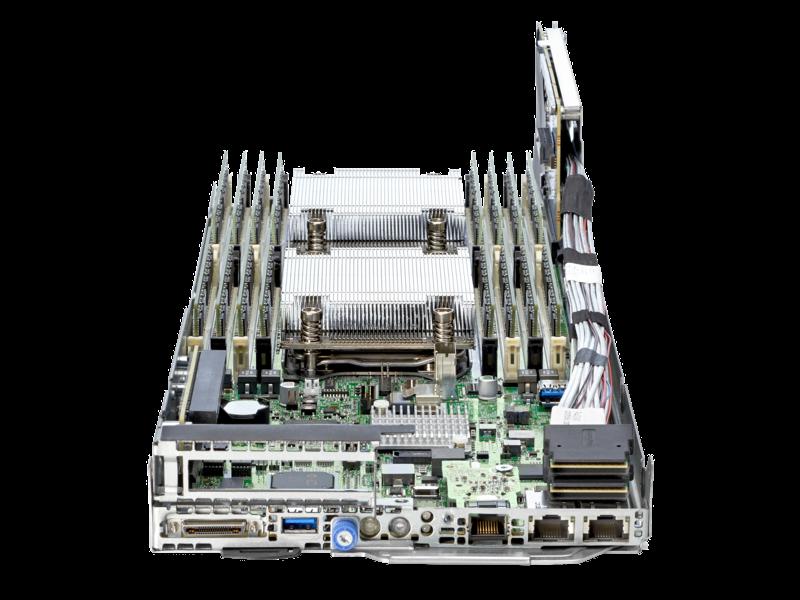 HPE ProLiant XL190r Gen9サーバー Center facing