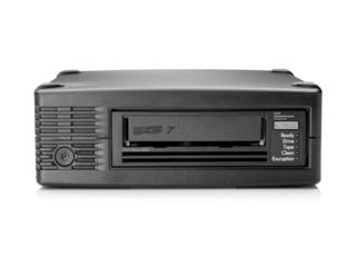 HPE StoreEver LTO-7 Ultrium 15000 External Tape Drive Center facing