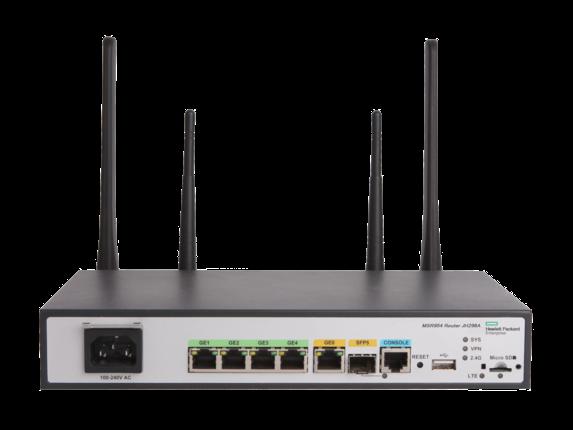 HPE MSR954-W 1GbE SFP LTE (AM) 2GbE-WAN 4GbE-LAN Wireless 802.11n CWv7 Router