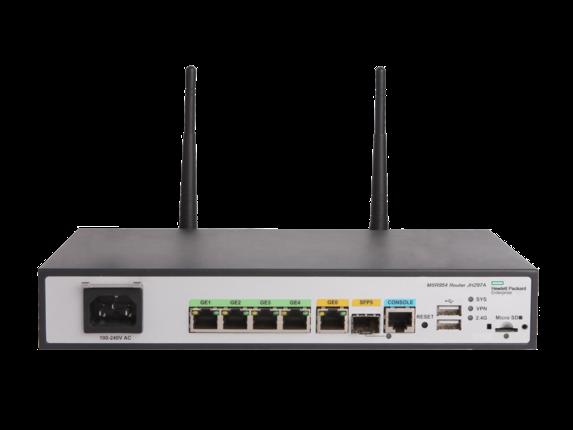 HPE MSR954-W 1GbE SFP (WW) 2GbE-WAN 4GbE-LAN Wireless 802.11n CWv7 Router