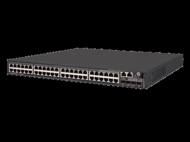 HPE FlexNetwork 5510 48G PoE+ 4SFP+ HI 1-slot Switch Left facing