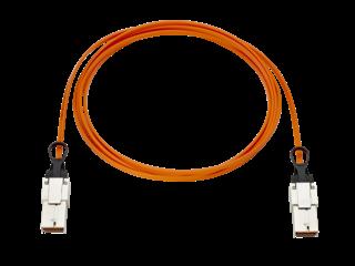 Cable óptico activo de 15 m para enlace de interconexión de HPE Synergy Center facing