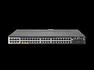 Aruba 3810M 40G PoE+-Switch mit 8 HPE Smart Rate und 1 Steckplatz Center facing