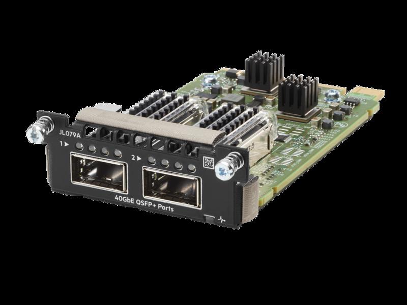 Módulo 2QSFP+ 40 GbE para Aruba 3810M Left facing