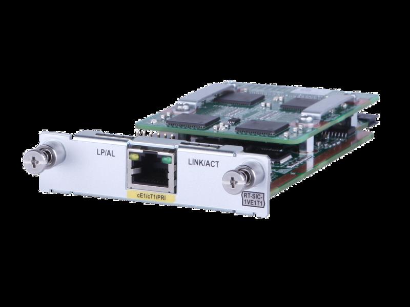 HPE MSR 1-port E1/T1 Voice SIC Module Left facing