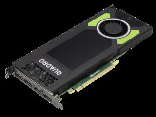 HPE NVIDIA Quadro M4000 Graphics Accelerator Left facing