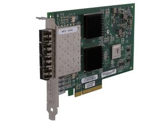 HPE StoreFabric 84Q 4-port 8Gb Fibre Channel Host Bus Adapter Center facing