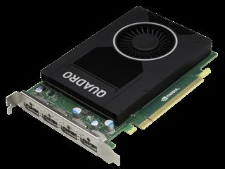 HPE NVIDIA Quadro M2000 Graphics Accelerator Left facing