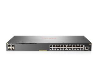 Aruba 2930F 24G PoE+ 4SFP Switch Center facing