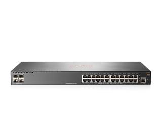 Aruba 2930F 24G 4SFP+ Switch Center facing