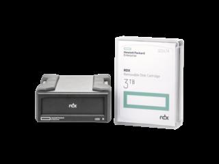 HPE RDX 3TB USB 3.0 External Disk Backup System Center facing