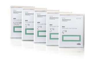 HPE RDX Wechseldatenträger-Kassette Center facing