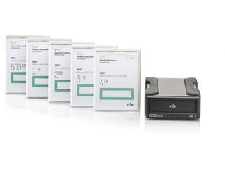 Système de sauvegarde sur disque amovible HPE RDX Center facing