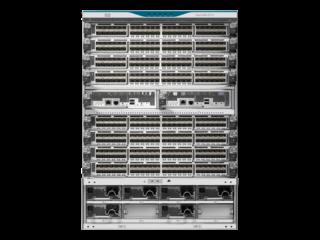 HPE StoreFabric SN8500C Fibre Channel Director-Switch mit 8 Steckplätzen und 16 Gb Center facing