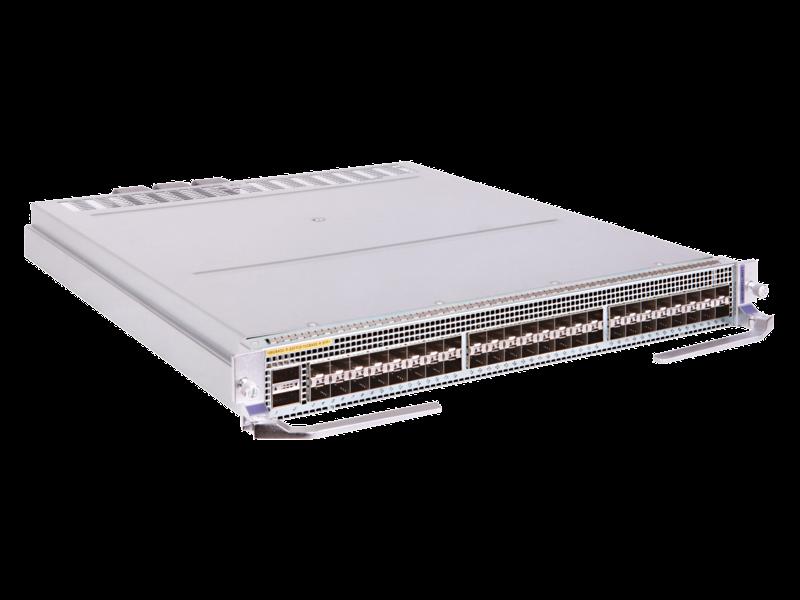 HPE FlexFabric 12900E 48-port 1/10GbE SFP+ 2-port 100GbE QSFP28 HB Module Right facing