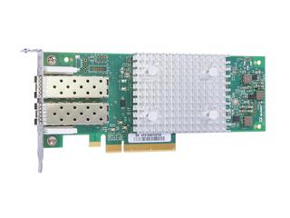 Scheda Host Bus Fibre Channel HPE StoreFabric SN1600Q da 32 Gb a due porte Left facing