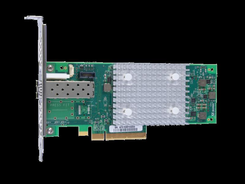 Adaptateur de bus hôte Fibre Channel HPE StoreFabric SN1600Q 32 Go, port unique Left facing
